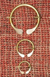 Ring Brooch #1 Pair (Small)