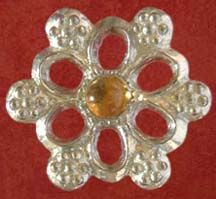Rose badge with Citrine