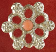 Rose badge with Pink Coral
