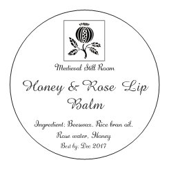 Honey and Rose Lip Balm