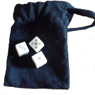 Hazard Dice Set - 3 Bone Dice